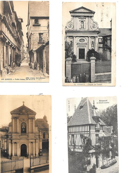 France - 14 calvados villages towns - Postcards (Collection of 93) - 1890-1960