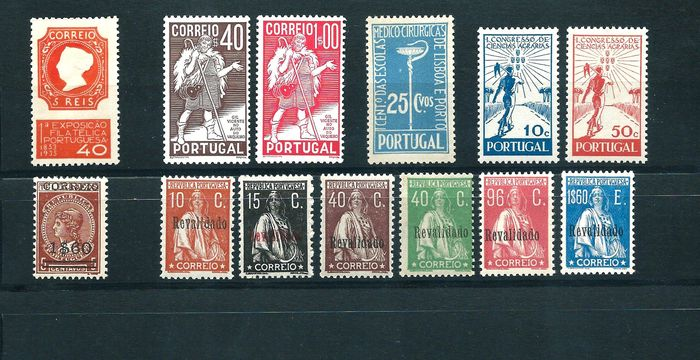 Portugal 1929/1942 - Group of sets of the 1st centennial - Mundifil 488/93-494-564-576-577/8-634/35