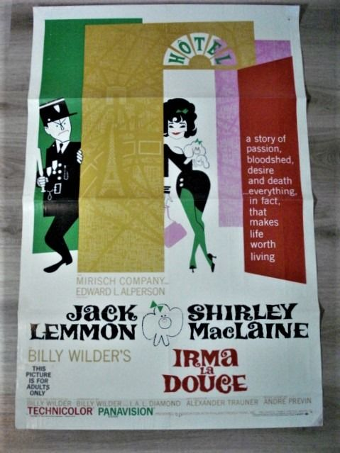 Irma La Douce (1963) - Jack Lemmon & Shirley McLaine - Poster, Original USA Cinema release - 1 Sheet - Numbered 63/200 First release