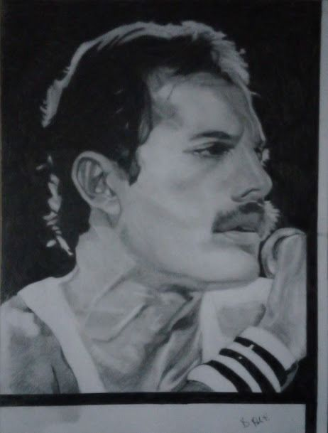 Freddie Mercury, Queen - Freddie by Daniela Politi - Artwork/ Painting, Limited edition - 2020/2020