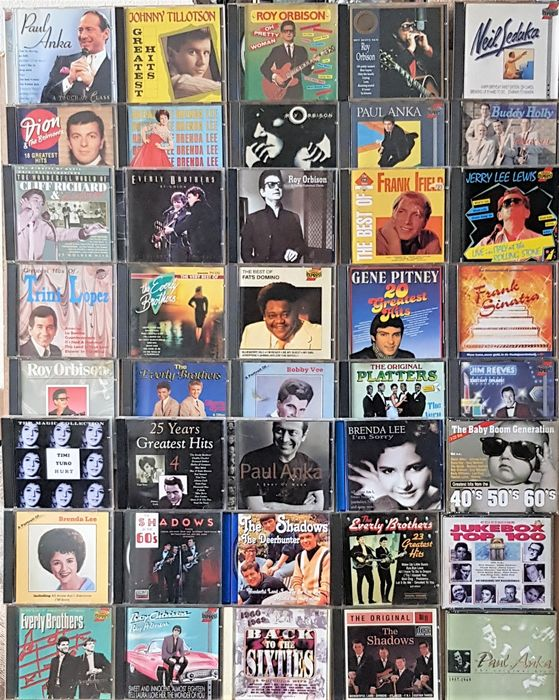 Buddy Holly, Various Artists/Bands in Rock & Roll, Roy Orbison, The Everly Brothers etc. - Múltiples artistas - Múltiples títulos - Box set CD, CD - 1987/2000