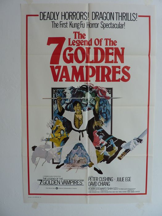 The Legend of the 7 Golden Vampires (1974) - Kung Fu/Cult - Poster, Original US Cinema release - 1 Sheet