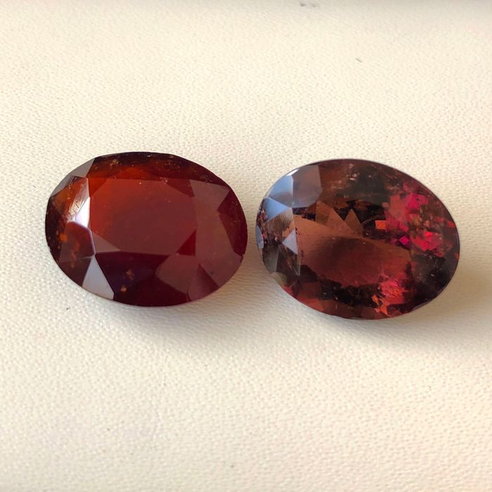 2 pcs  Turmalina - 19.25 ct