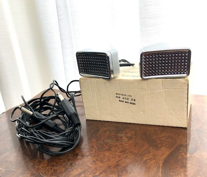 Philips - N-8402 - Vintage  -  Stereo - Microphone dynamique - Pays-Bas - 1974