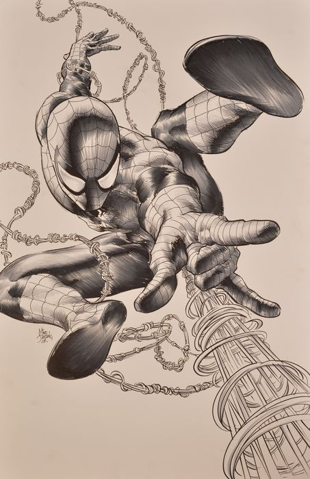 "The Superior Spider-Man - Illustration originale de la variante de couverture du Comics ""The Superior Spider-Man"", Issue 4 - (2013)"