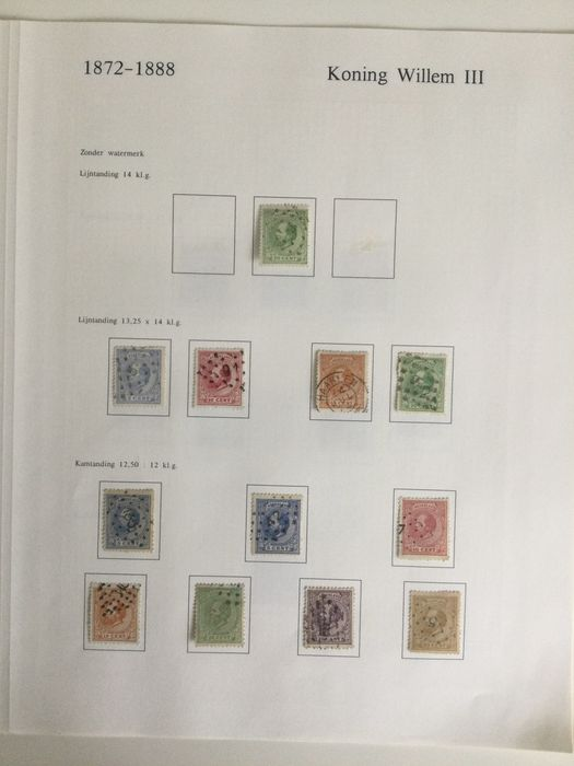 Netherlands 1872/1888 - Collection of the fifth emission, specialised in type and perforation