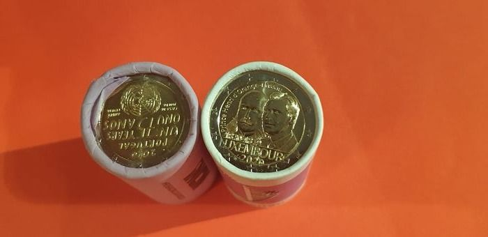 Luxembourg, Portugal. 2 Euro 2020 Commemorative (50 pieces) in 2 rolls
