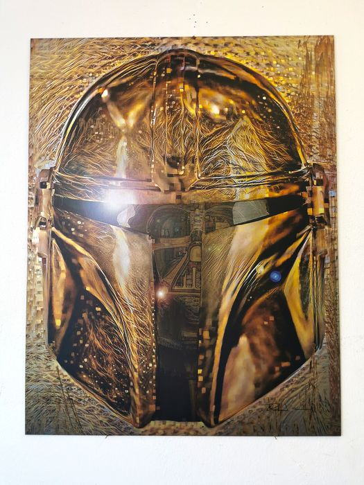 Star Wars: The Mandalorian - Din Djarin & Darth Vader - Kunstwerk, Glitch ART by David Vijsma Next of Kin Portrait Series