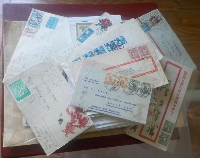 Chine - Chine centrale - China and Taiwan 1926/2006 - big collection of  covers, FDC and postcards