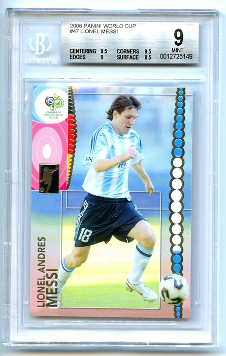 2006 Panini World Cup Tarjeta coleccionable - Lionel Messi - World Cup - #47 - Mint - Iconic card - BGS 9