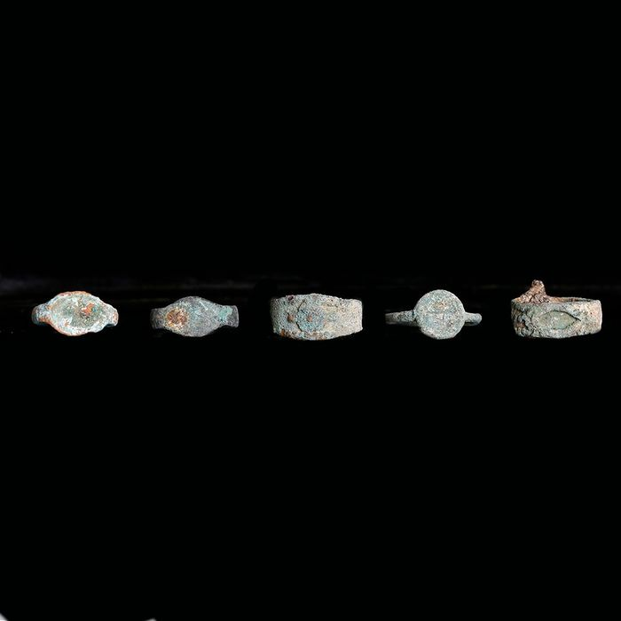 Selection of Bactrian Bronze Rings - (5)