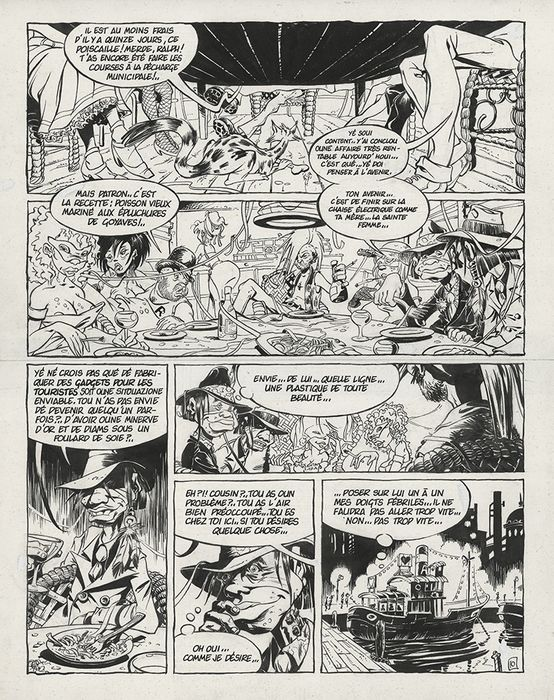 Riff Reb's / Cromwell - Planche originale - Aaargl ! - (1987)