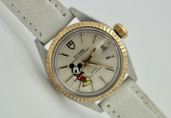 """Tudor - By Rolex """"Mickey Mouse"""" - 92413 """"NO RESERVE PRICE"""" - Dames - 1980-1989"""
