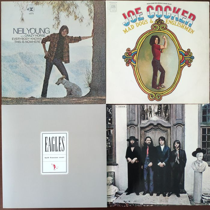 Eagles, Joe Cocker, Neil Young, Beatles - 4 Albums - 2xLP Album (dubbel album) - 1970/2019