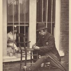 "John Thomson - ""Caney the Clown"" from Street Life in London by A Smith, 1876, a key work in documentary photography"