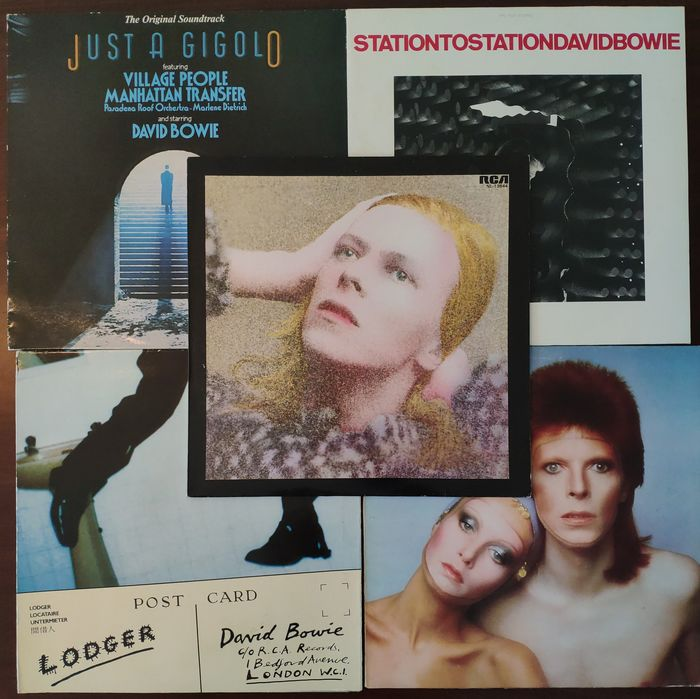 David Bowie & Related - 5 Albums - LP's - 1973/1979