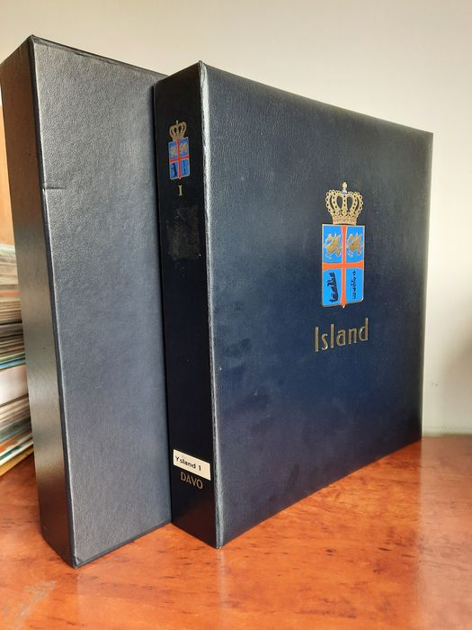 Island 1876/1992 - Advanced collection with higher denominations in a decent DAVO LX album with slipcase
