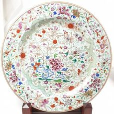Charger - Famille rose - Porcelain - Dragon - China - Qianlong (1736-1795)