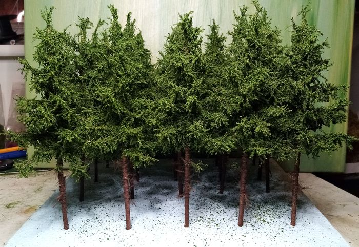 GMiniatureS H0 - Scenery - 10 Spruce trees