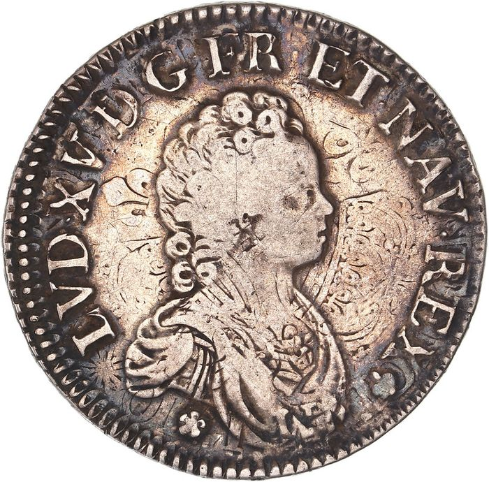 France. Louis XV (1715-1774). Ecu 1715-A, Paris