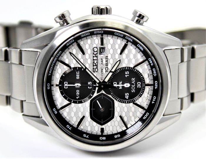 Seiko - NO RESERVE PRICE - SSC769P1 Solar Chronograph New & Boxed - Heren - 2011-heden