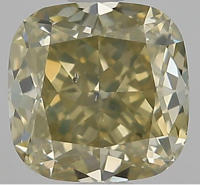1 pcs Diamant - 1.51 ct - Coussin - Fancy Brownish Greenish Yellow - SI2 EX EX GIA Certified * No Reserve Price *
