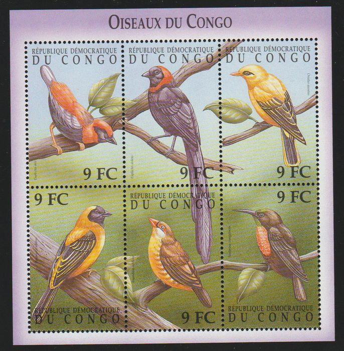 World - Collection of Birds, stamps and blocks.