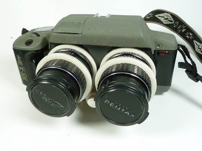 RBT X3 Stereo camera, based on Ricoh XR-X3pf, owned and customized by David Klutho, 28mm and 100mm