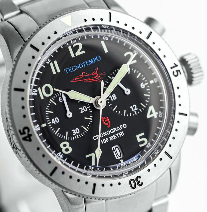 "Tecnotempo - - NO RESERVE PRICE - - Chronograph ""Fighter Pilot Special Edition"" - Limited Edition 100PCS - - TT.100.QAA - Hombre - 2021"