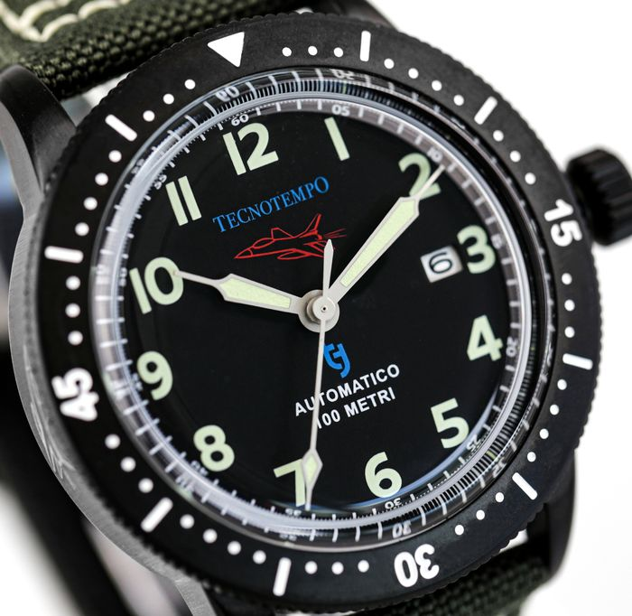 """Tecnotempo - - NO RESERVE PRICE - - """"Fighter Pilot Special Edition"""" - Limited Edition 100PCS - - TT.100.AAT (All Black) - Uomo - 2021"""