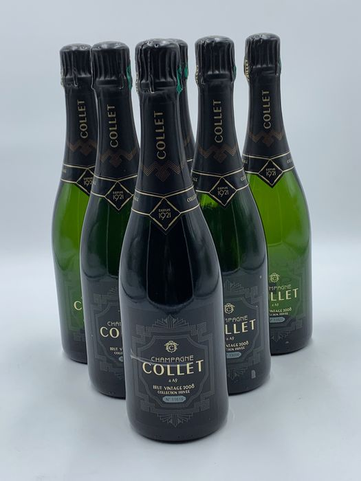 "2008 Collet Cuvée,  ""Private Collection"" Numbered Bottles - Champán Brut - 6 Botellas (0,75 L)"