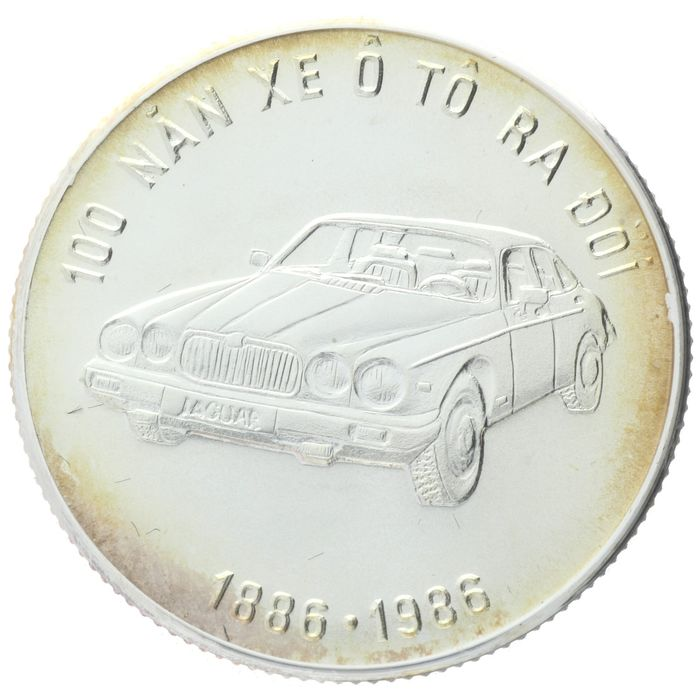 Vietnam. 100 Dong 1986 - 100 Years of Automobile