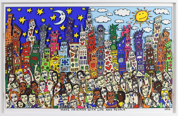 James Rizzi (1950-2011) - Make Friends With Life And People