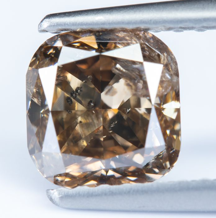 Diamante - 1.23 ct - Natural Fancy Intense Orangy Brown - I1 *NO RESERVE*