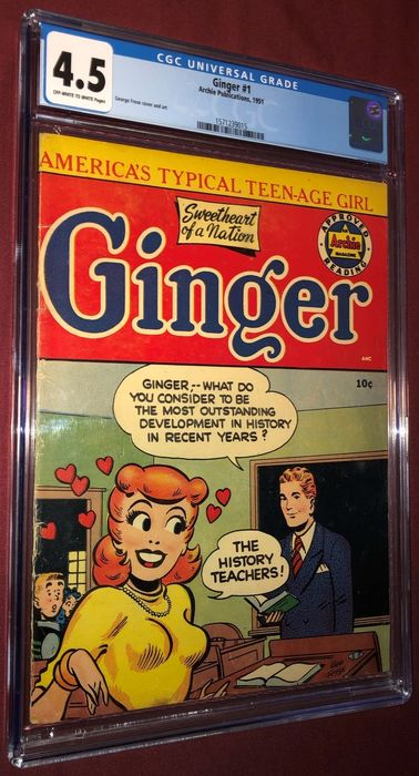Ginger 1 - CGC Graded 4.5 OW/W pages - Agrafé - EO - (1951)