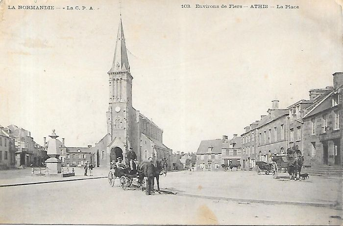 France - 61 mostly villages - Postcards (Collection of 100) - 1890-1910