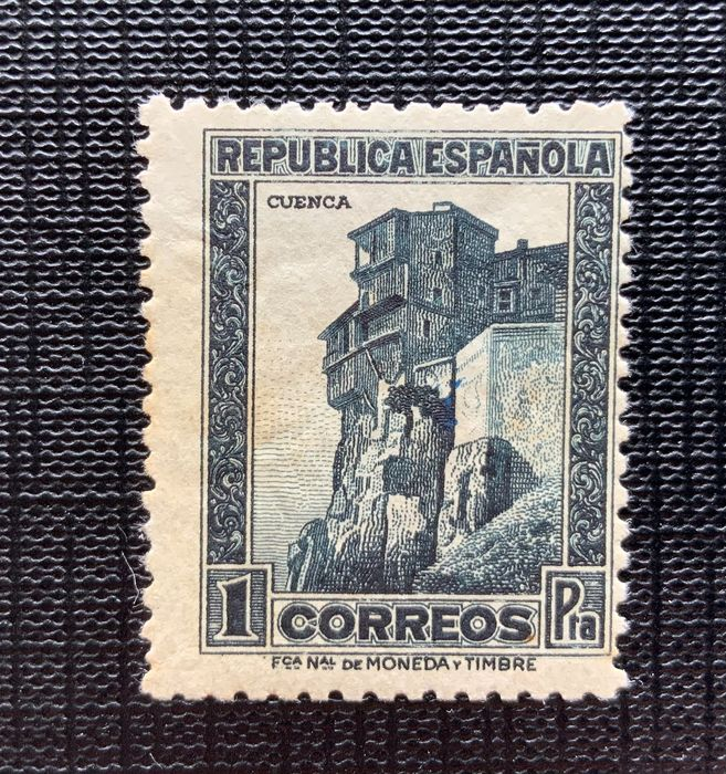 Spain 1932 - Monuments with zeros numbering - Graus certificate - Edifil 673N