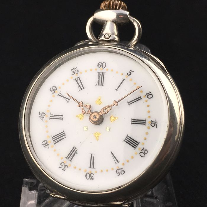 French Silver Pocket watch - NO RESERVE PRICE - Women - 1850-1900