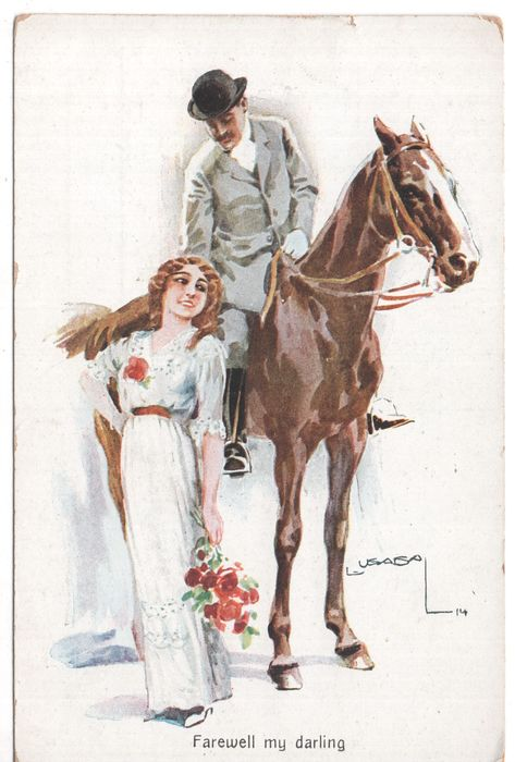 Various countries - Fantasy, Couples / Couples - Male / Female - Postcards (Collection of 135) - 1900-1950