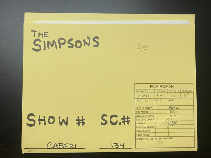 The Simpsons - Portfolio of 13 original drawings - Signed by animators