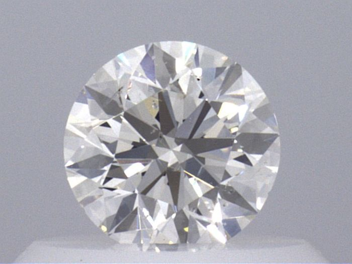 1 pcs Diamant - 0.40 ct - Rond - H - SI2  VG VG G  GIA Certified * No Reserve Price *