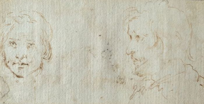 Stefano della Bella (1610-1664), (attributed to) - Two studies of Heads
