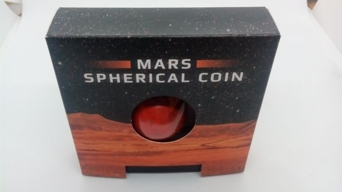 Barbade. 5 Dollars 2021 Mars Spherical 3D Mars coin - 1 Oz