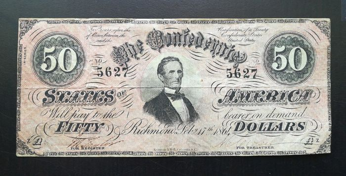 United States of America - 50 Dollars 1864 The Confederate States of America
