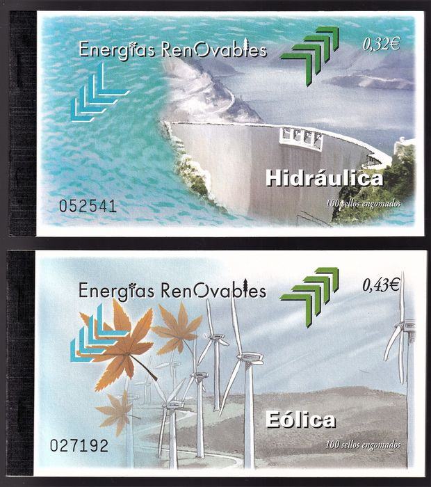 Spagna 2009/2009 - Batch of 2 complete booklets with 100 stamps - Edifil 4475/4476