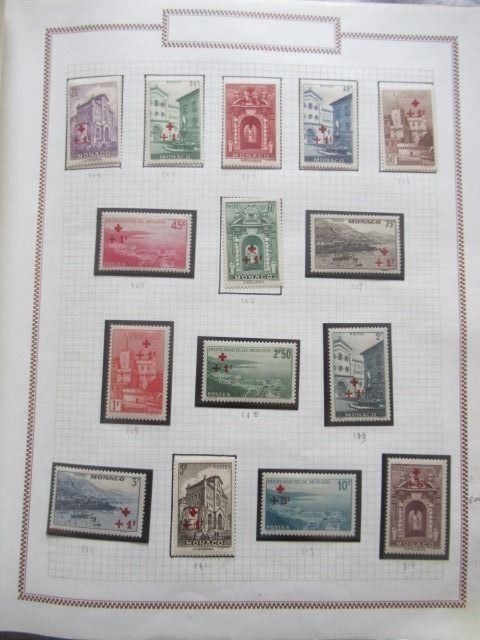 Monaco - Advanced collection of stamps