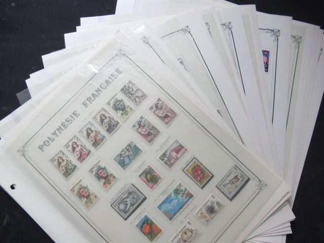 Frans-Polynesië 1958/1974 - Complete collection of stamps, including airmail and blocks