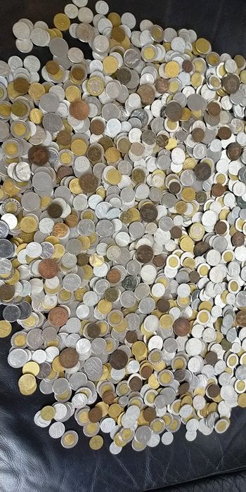 Italy. Lot of 10 Kg of coins