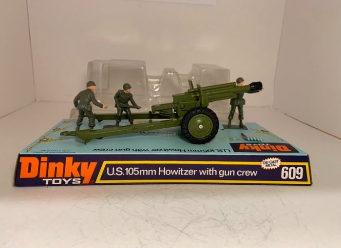 Dinky Toys - 1:43 - Dinky Toys No : 609 - US 105mm Howitser with gun crew