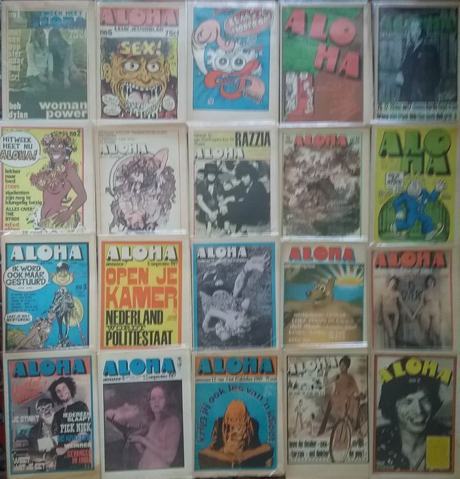 Aloha magazine - Multiple artists - complete jaargang 1 plus jaargang 2 - Multiple titles - Magazine - 1969/1971